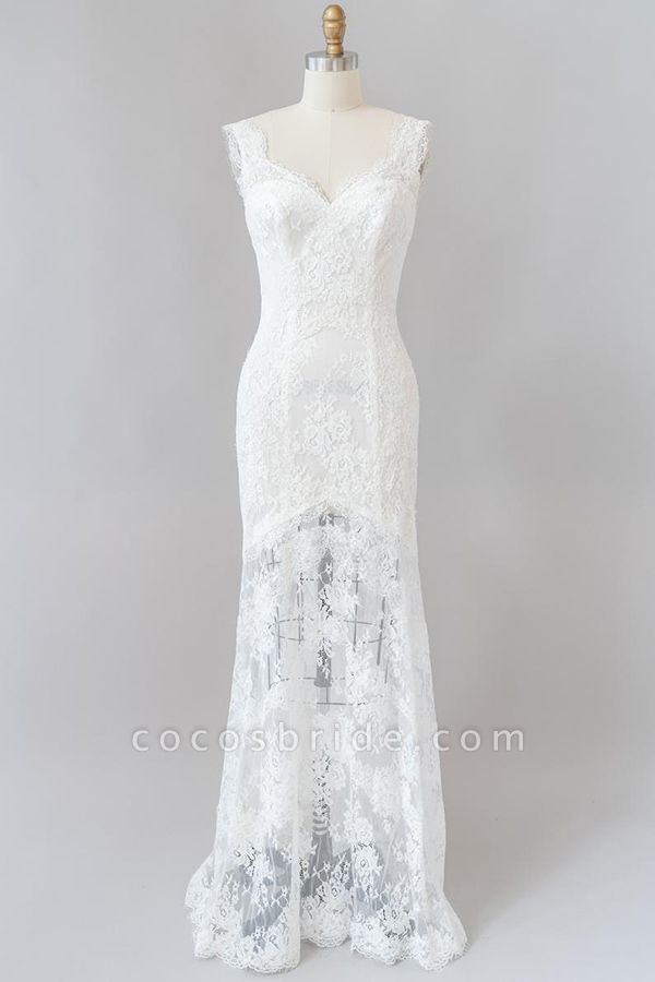 Eye-catching Sweetheart Lace Mermaid Wedding Dress