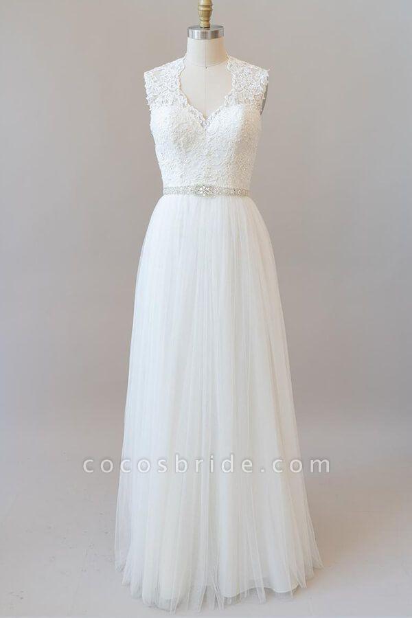 Amazing Beading Lace Tulle A-line Wedding Dress