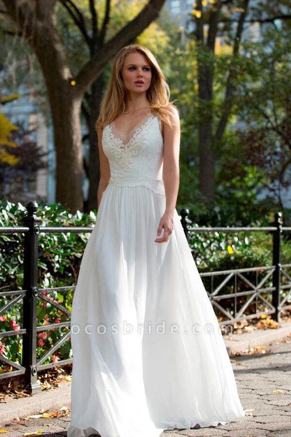 Latest Elegant Lace Chiffon A-line Wedding Dress