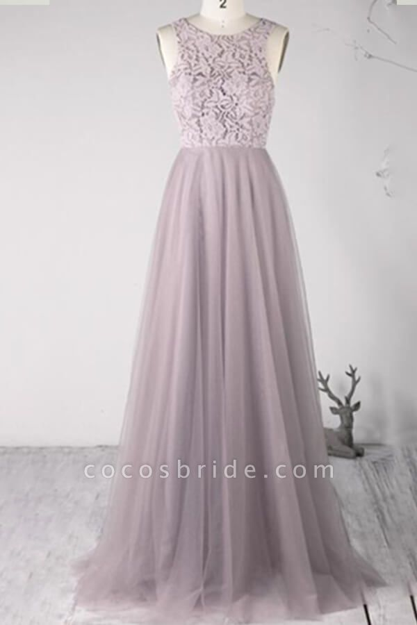 Awesome Lace-up Lace Tulle A-line Wedding Dress