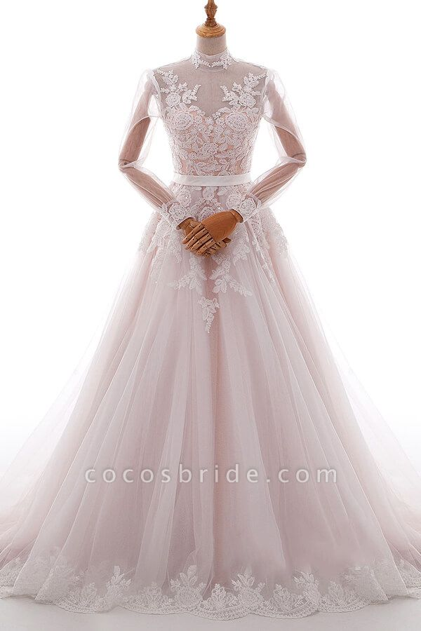 https://www.cocosbride.com/high-neck-long-sleeve-appliques-tulle-wedding-dress-g732?cate_1=24/?utm_source=blog&utm_medium=post&utm_campaign=Lyosha201911