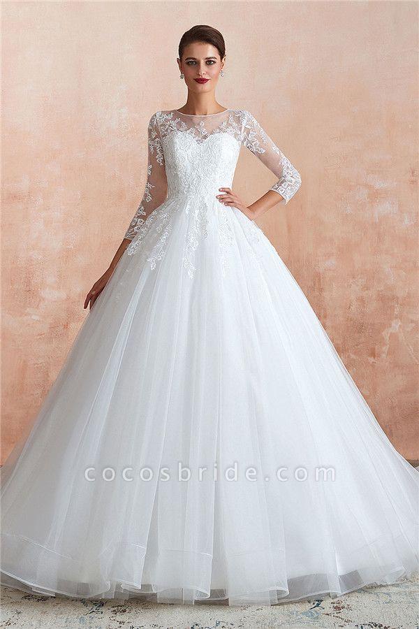 Wonderful Appliques Tulle A-line Wedding Dress