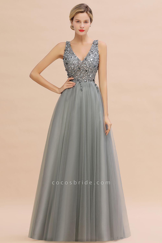 Fabulous V-neck Tulle A-line Prom Dress