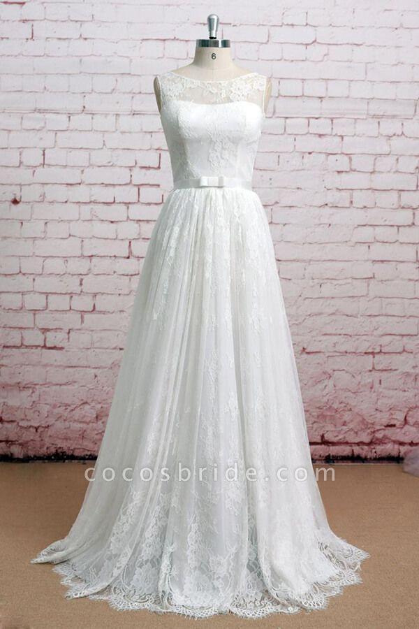 Graceful Illusion Lace A-line Wedding Dress