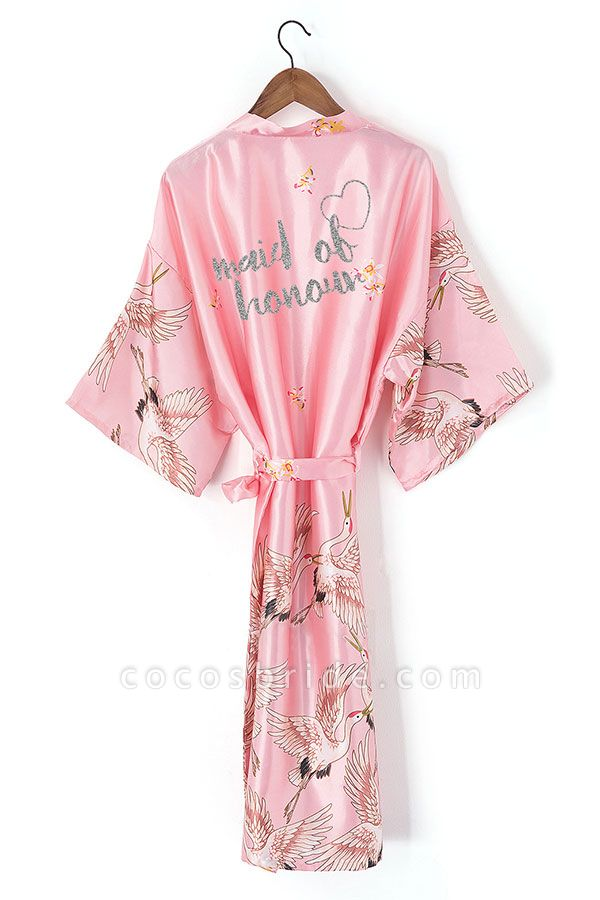 Personalized Glitter Print Bride & Bridesmaid Robes