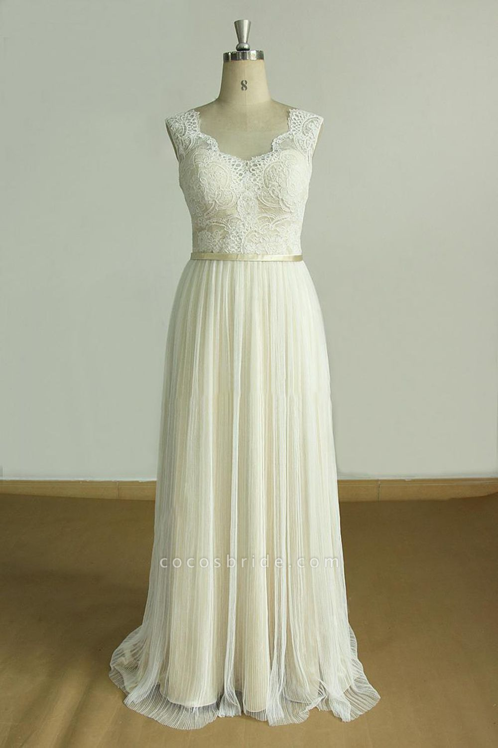 Affordable Lace Tulle A-line Wedding Dress