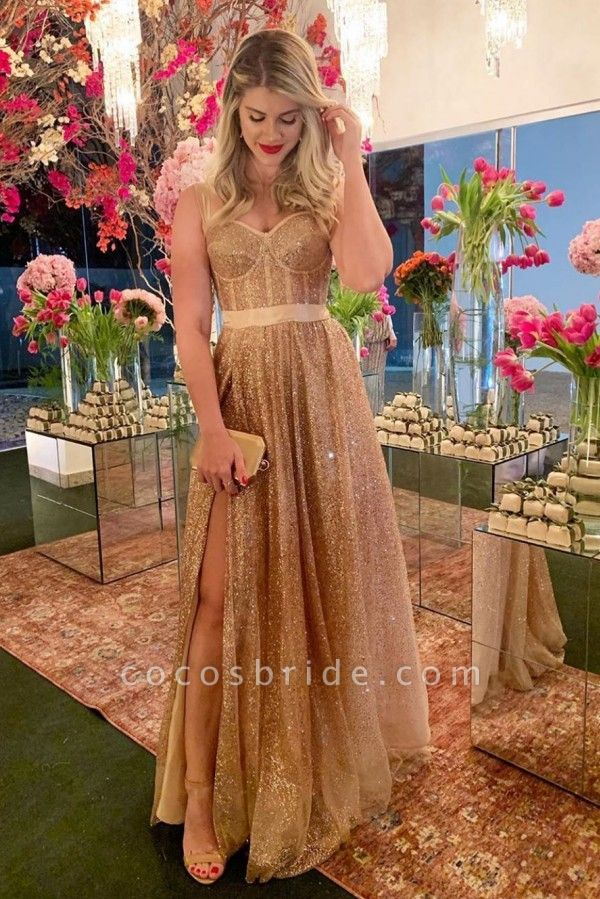 Glorious Sweetheart Bright silk A-line Prom Dress