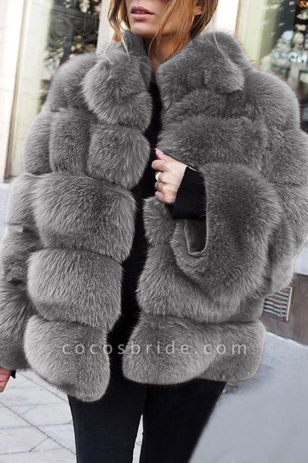Women's Daily Street Winter Regular Faux Fur Coat
