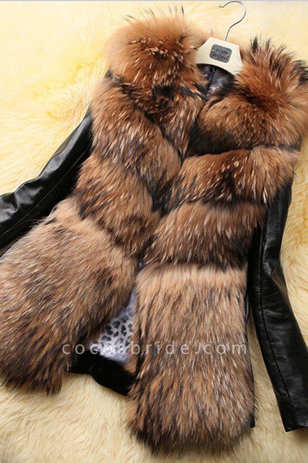 Women's Daily Basic Winter Faux Fur Coat