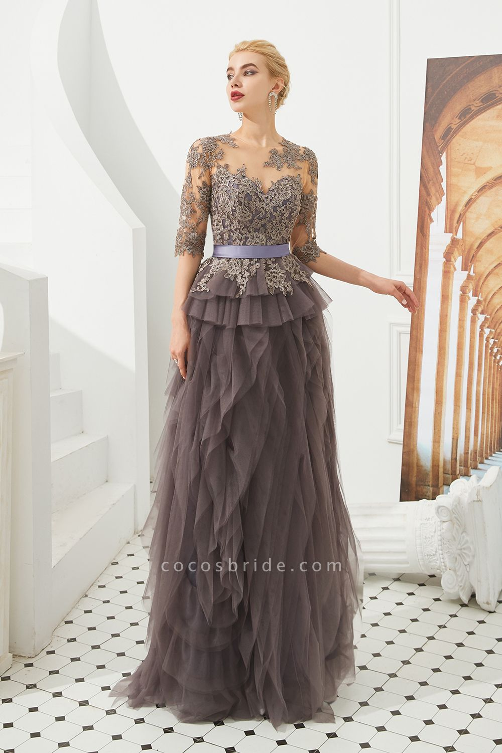 Fabulous Jewel Tulle Ball Gown Prom Dress