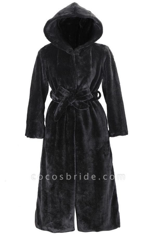 Women's Daily Street Hooded Long Faux Fur Coat