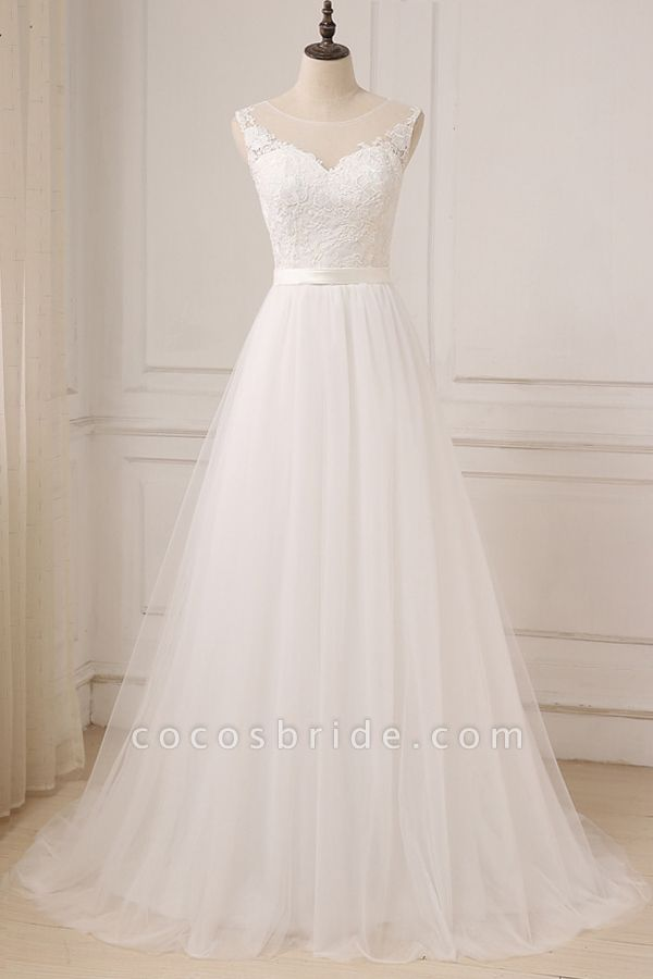 Graceful Lace Tulle A-line Wedding Dress