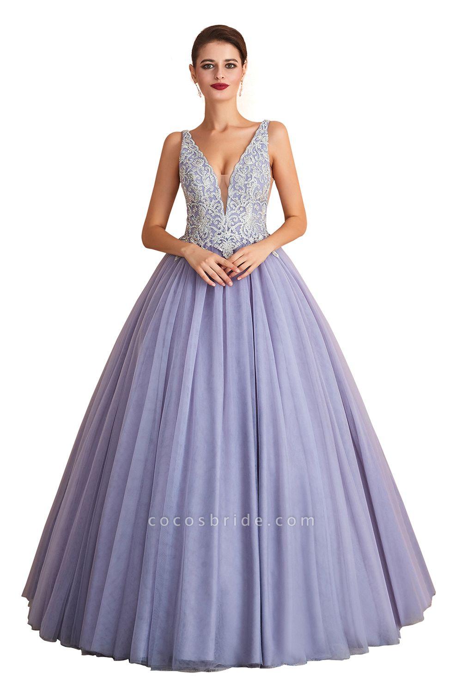 Excellent V-neck Tulle Princess Prom Dress