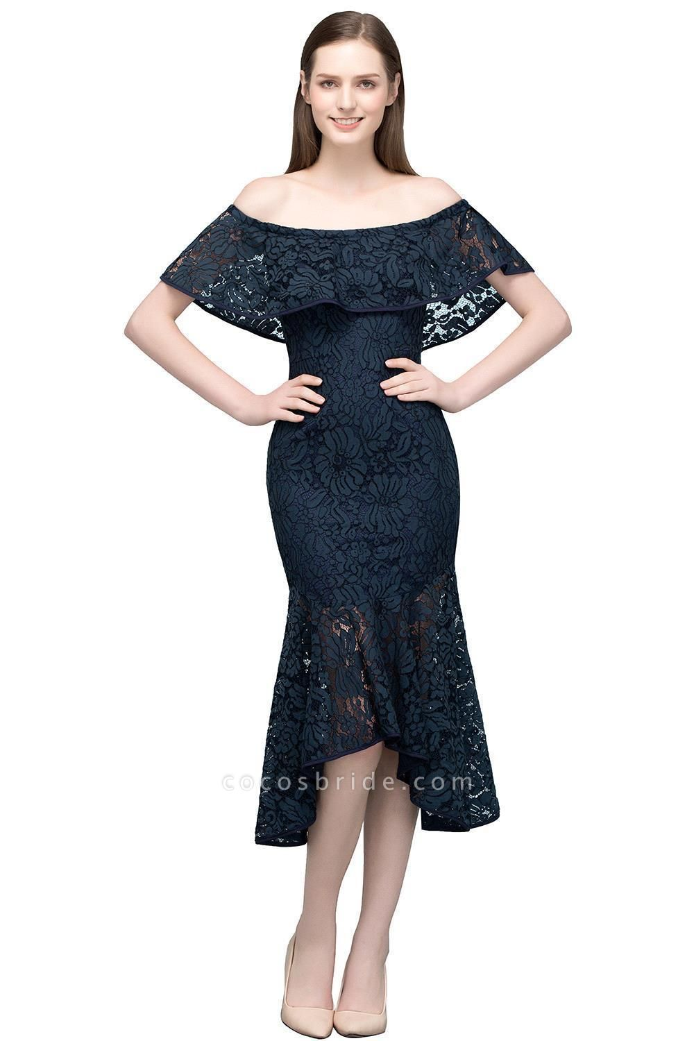 Affordable Off-the-shoulder Lace Mermaid Evening Dress