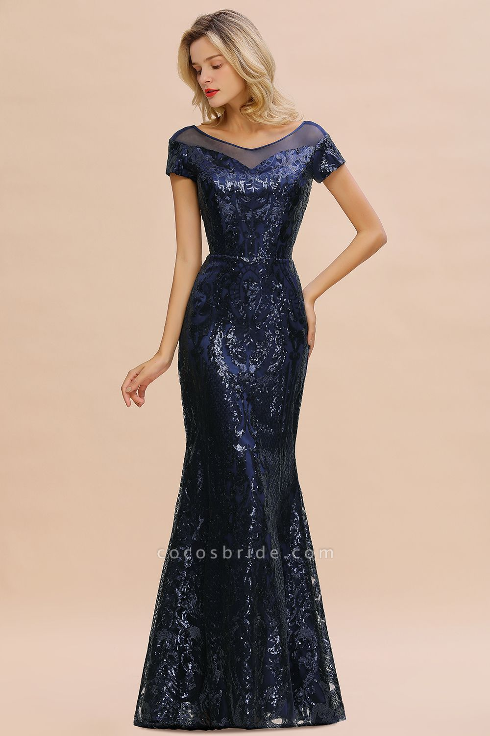 Elegant Jewel Tulle Mermaid Prom Dress