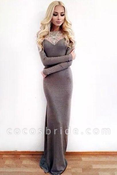 Fascinating Jewel Appliques Column Prom Dress