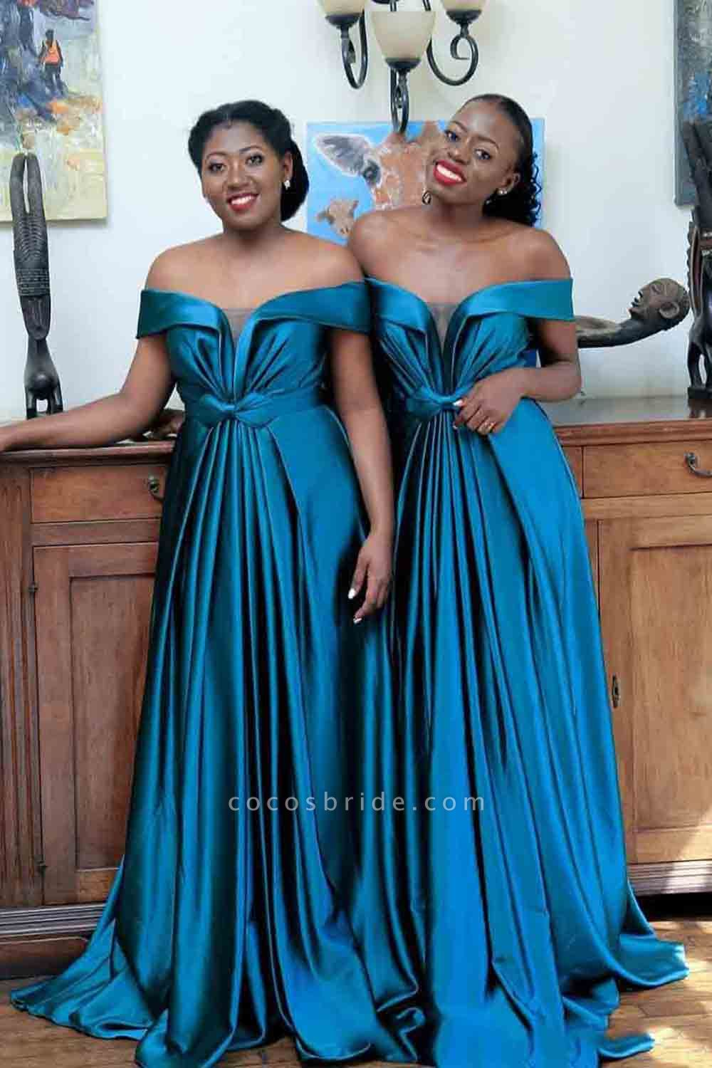 Eye-catching Off Shoulder A-line Bridesmaid Dress