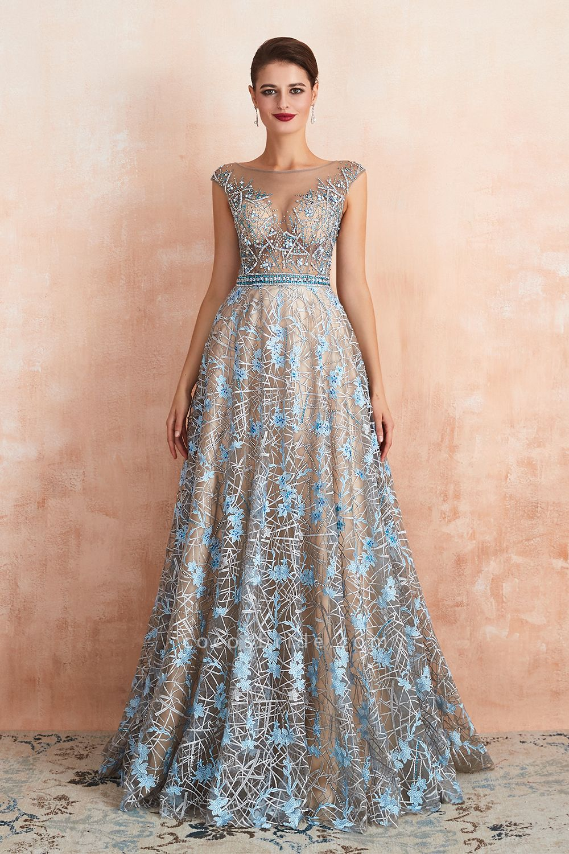 Beautiful Jewel Lace A-line Prom Dress