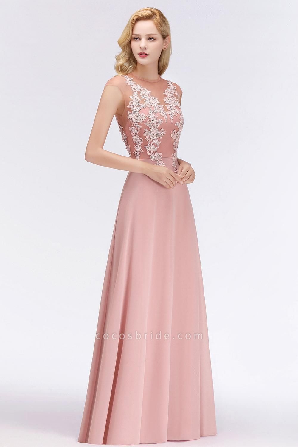 Lace Appliques Beads Cap Sleeve A-line Evening Prom Dress