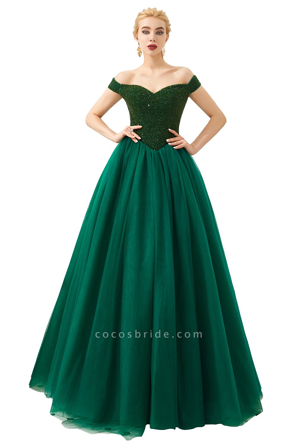 Glorious Off-the-shoulder Tulle A-line Prom Dress