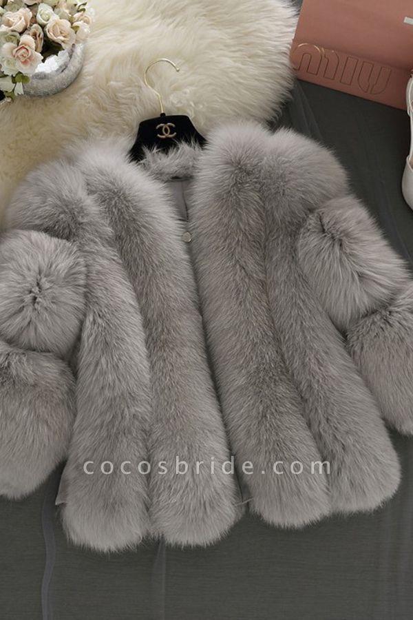 Women's Daily Basic Street Winter Faux Fur Coat