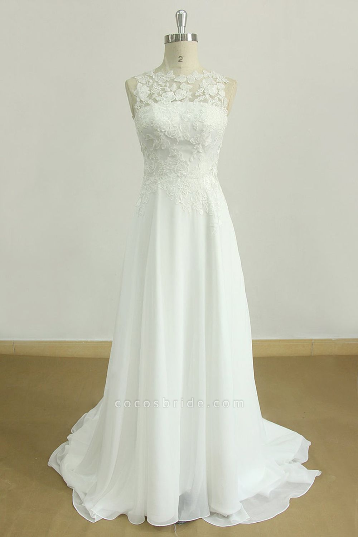 Graceful Appiques Chiffon A-line Wedding Dress