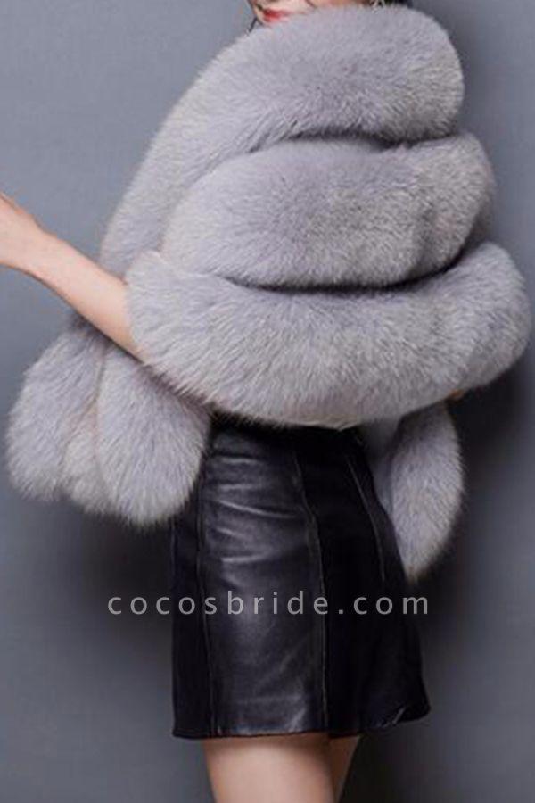 Women's Going out Winter Short Fur Coat