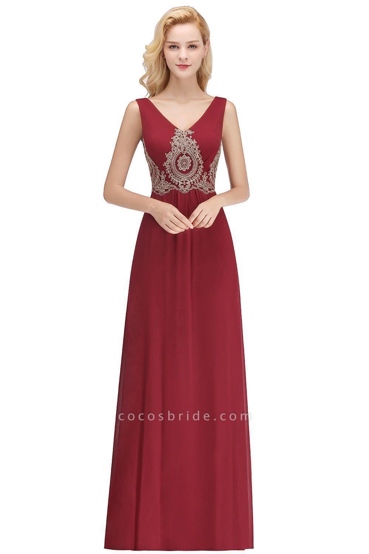 A-Line Chiffon Lace Ruffles Evening Dress