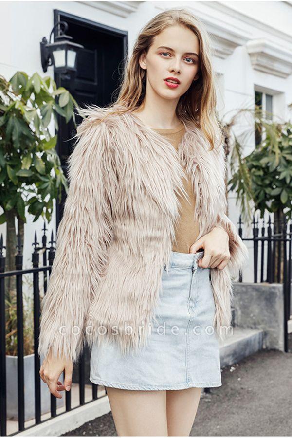 Women's Winter Daily Fashion Street Faux Fur Coat
