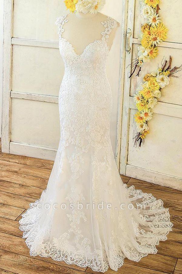 Eye-catching Sweetheart Lace Mermaid Wedding Dress
