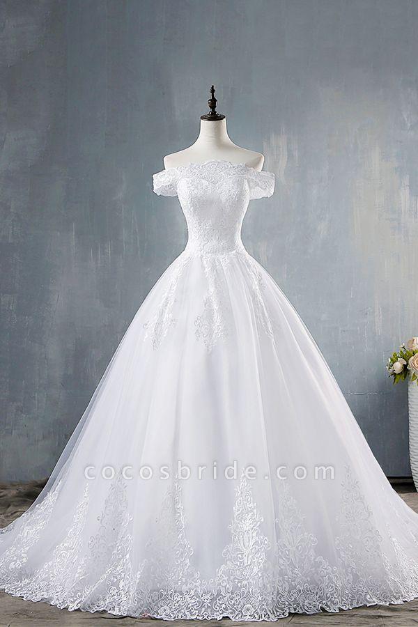 Elegant Appliques Lace Tulle A-line Wedding Dress