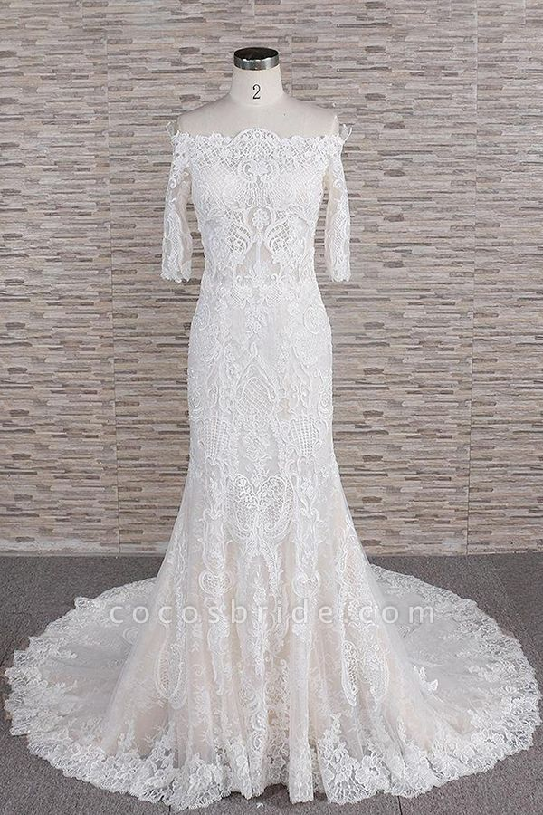 Awesome Appliques Court Train Mermaid Wedding Dress