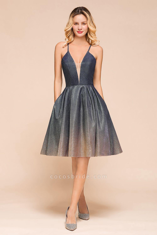 Cute Spaghetti Strap Lace-up Short Prom Dress