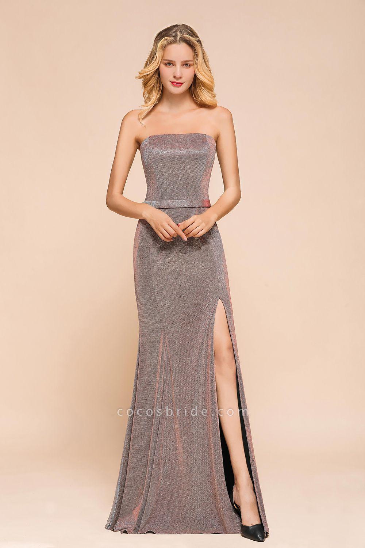 Elegant Strapless Front Split Mermaid Prom Dress