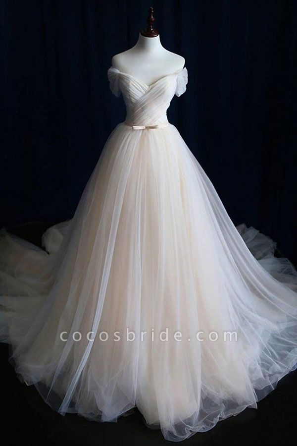 Awesome Lace-up Ruffle Tulle A-line Wedding Dress