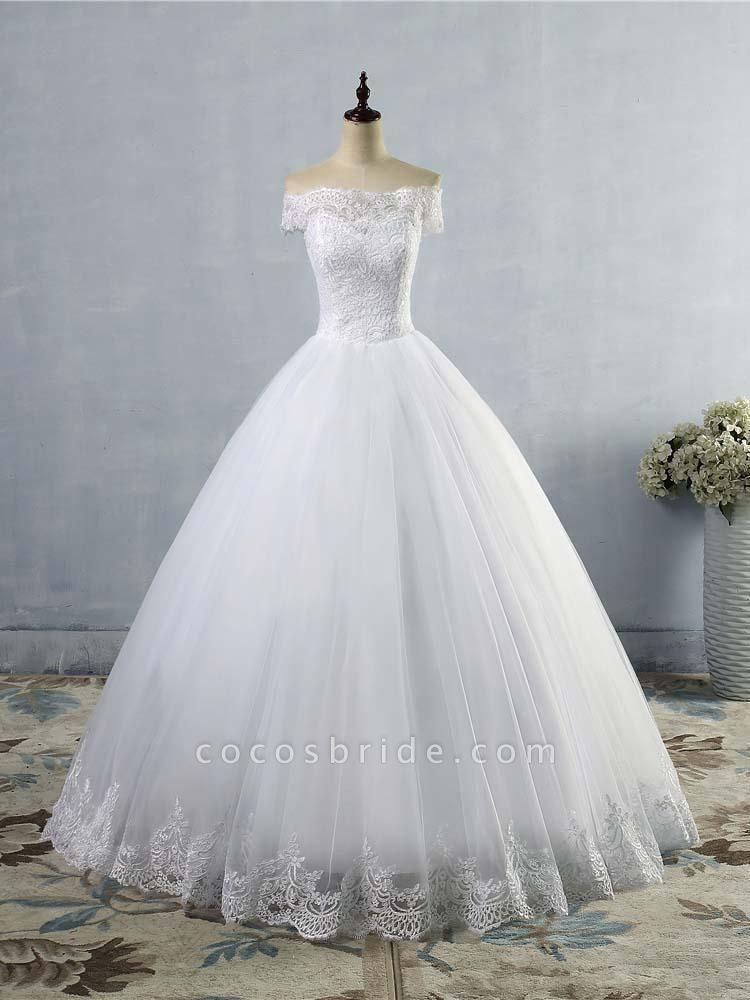 New Lace Off-The-ShouldeR Ball Gown Tulle Wedding Dresses