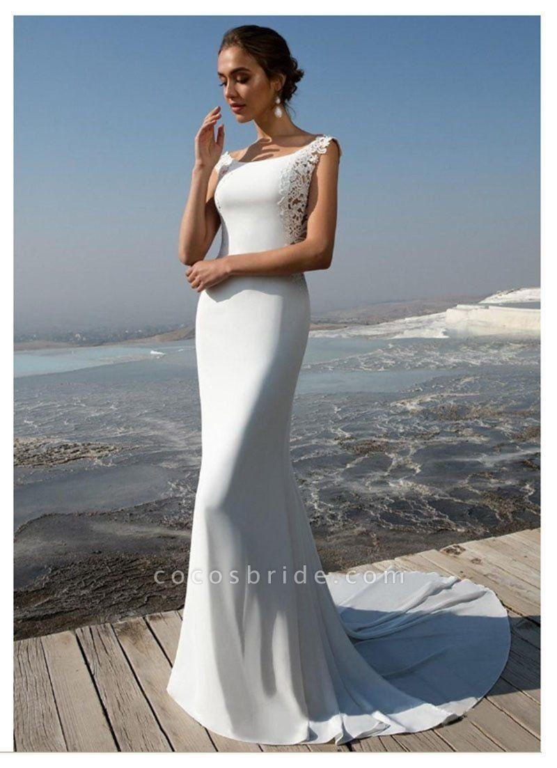 Elegant Backless Lace Mermaid Wedding Dresses