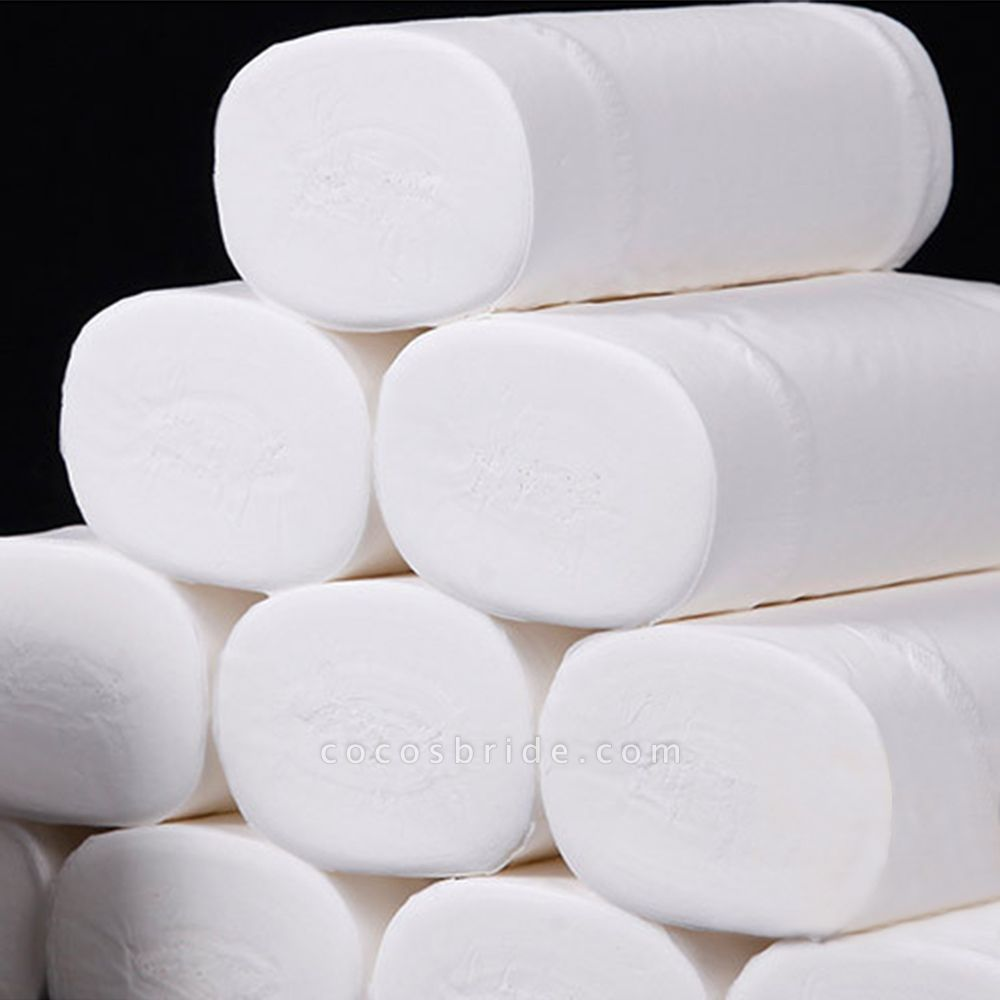 Toilet Paper In-Stock Primary Wood Pulp Toilet Tissues 10 Rolls