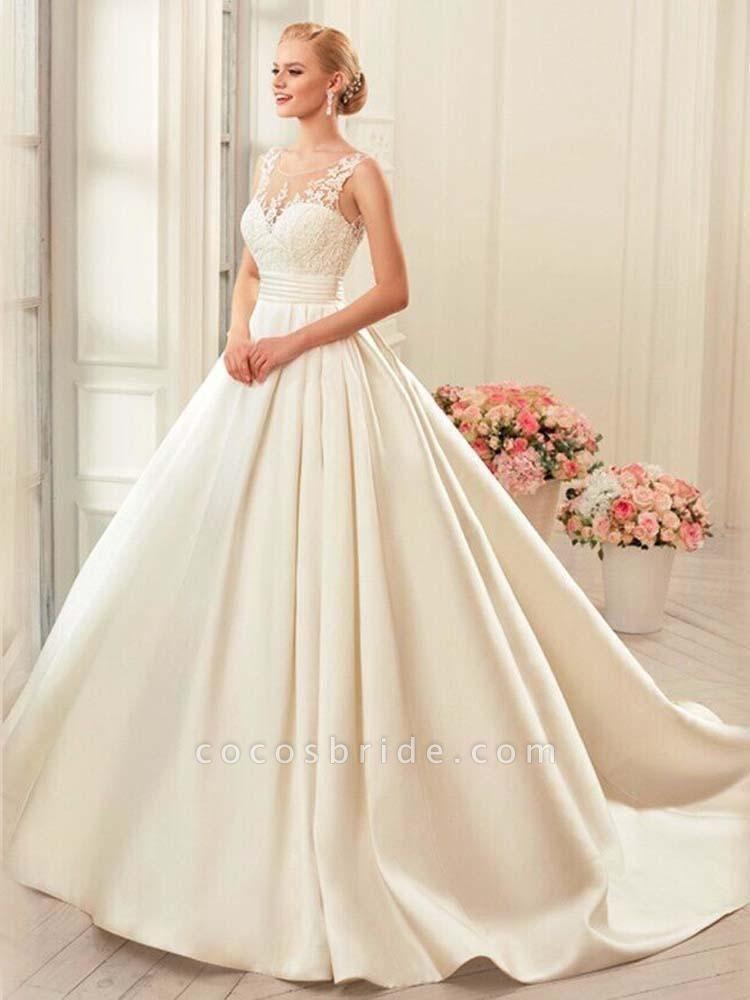 Glamorous Backless Ruffles Wedding Dresses