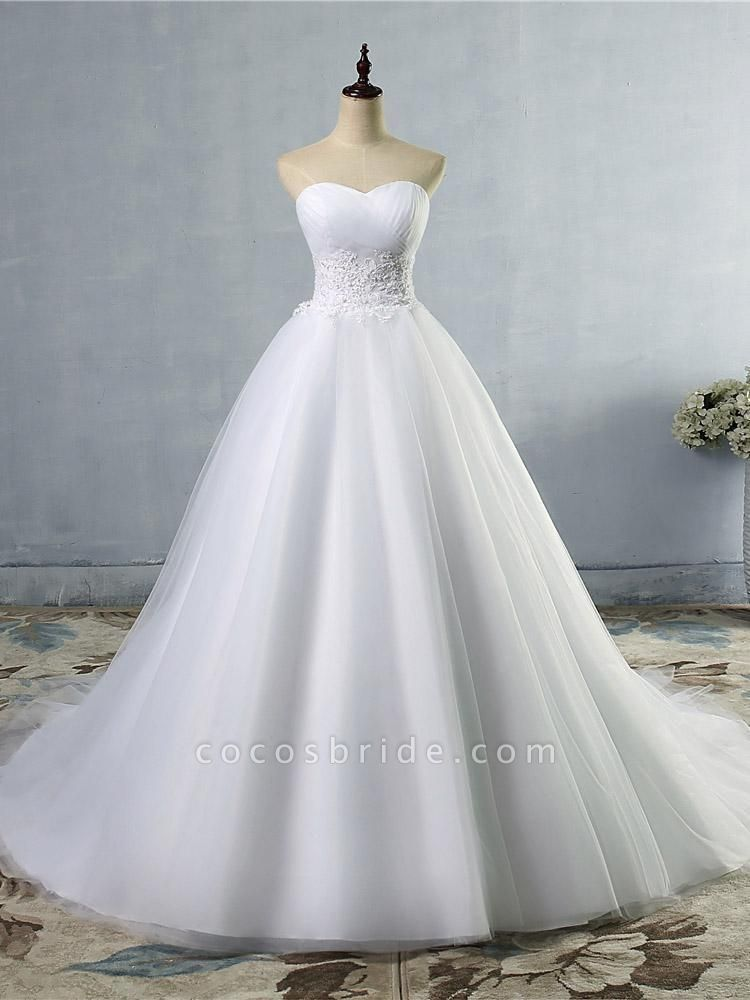 Gorgeous Sweetheart Cathedral Ball Gown Wedding Dresses