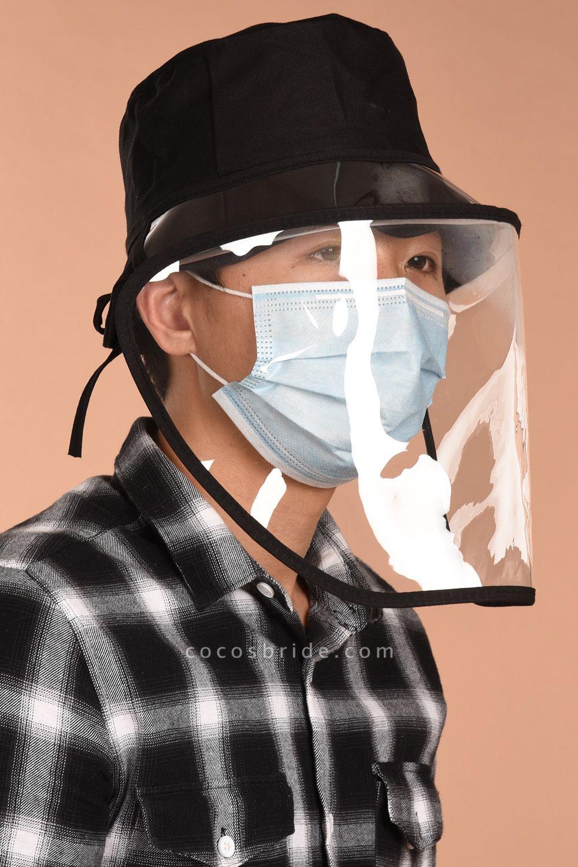 New Upgrade Pollution Protective Cap Anti Dust Cappello Cap With Transparent