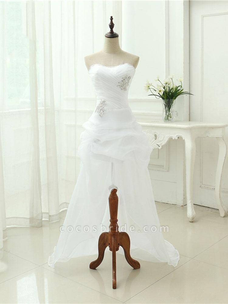 Elegant Off-the-Shoulder Crystal Tulle Wedding Dresses