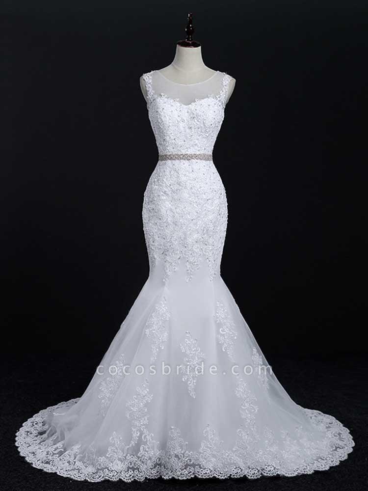 Lace Sashes Mermaid Wedding Dresses