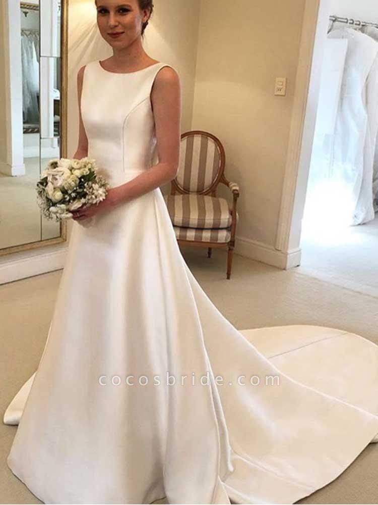 Gorgeous Backless Ruffles Wedding Dresses
