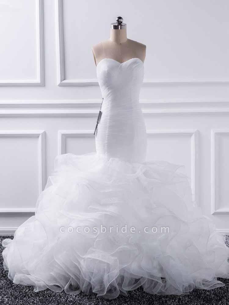 Elegant sweetheart Mermaid Tulle Wedding Dresses