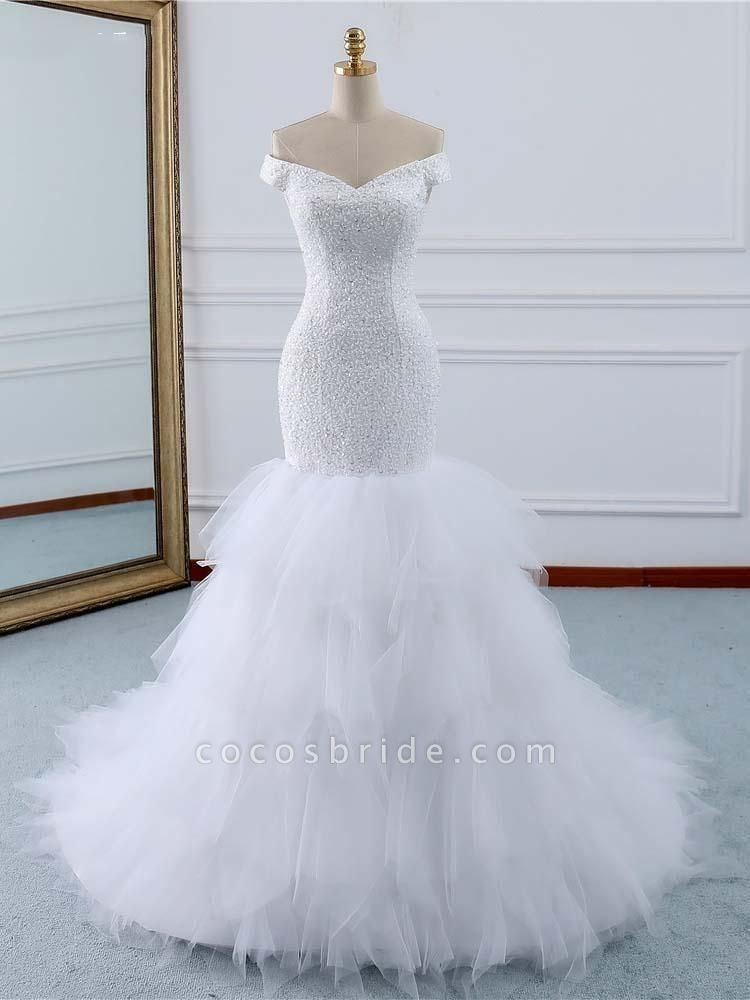 Off-the-Shoulder Mermaid Wedding Dress