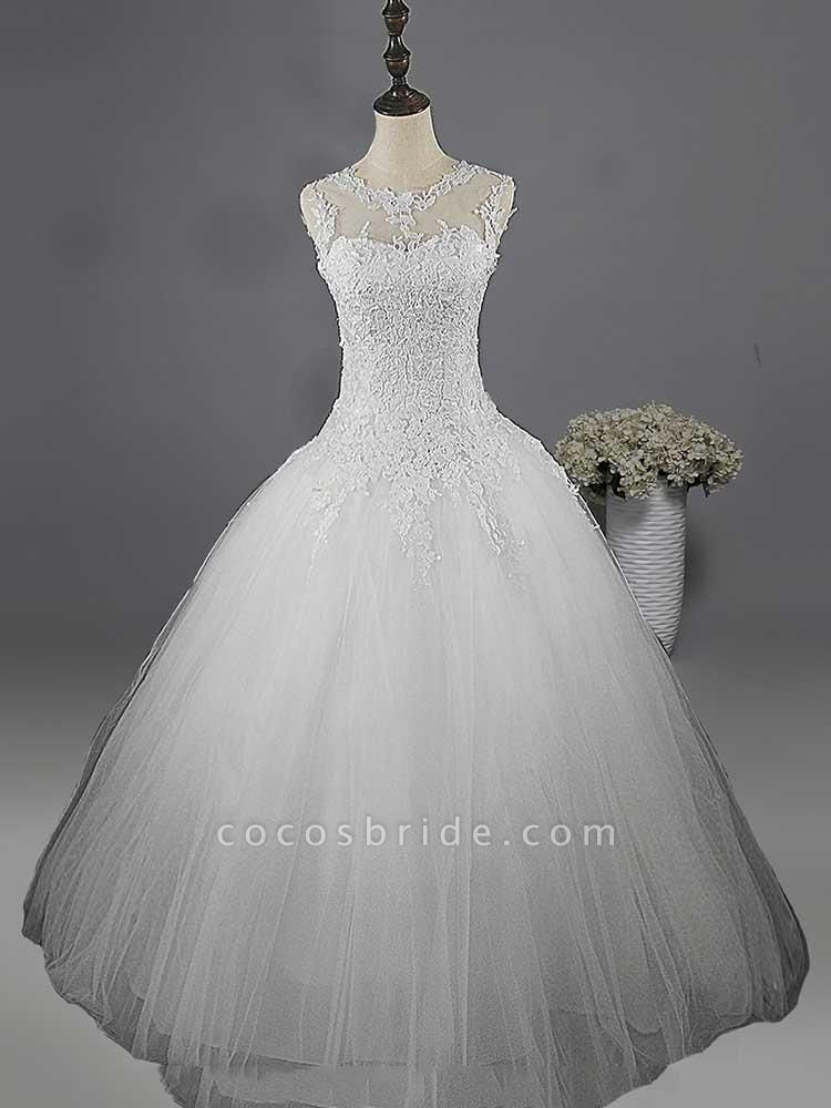 Glamorous Lace Ball Gown Tulle Wedding Dresses
