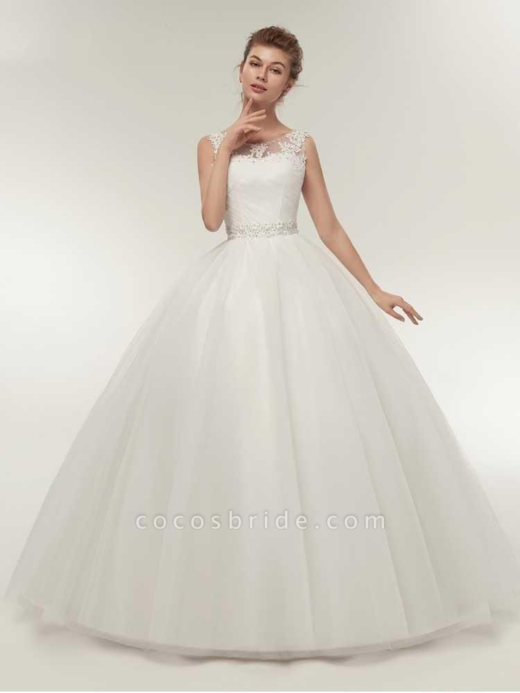 Gorgeous Lace Up Ball Gown Wedding Dresses
