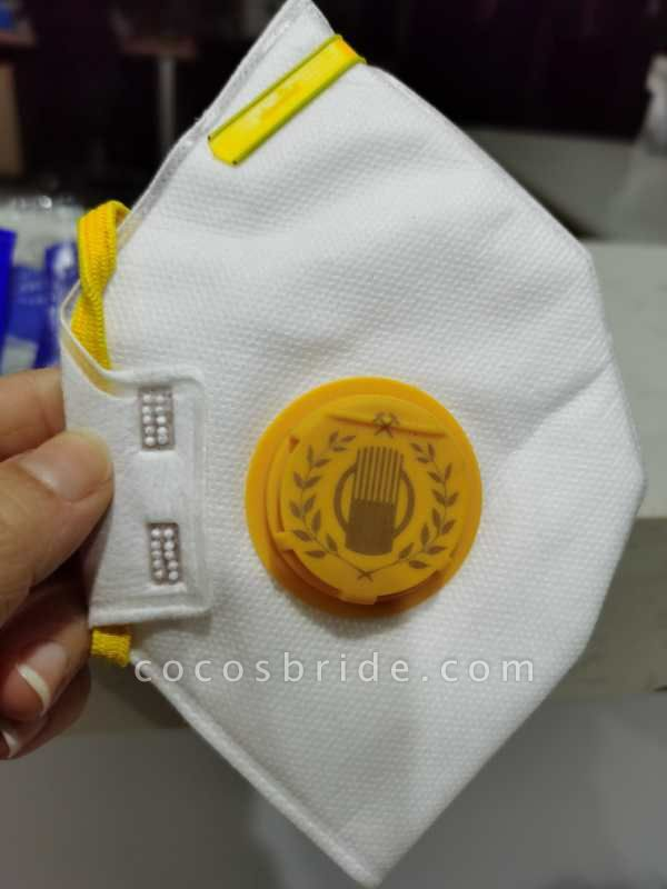 FFP2 Respirator 5 Pieces Disposable Face Mask with Valve