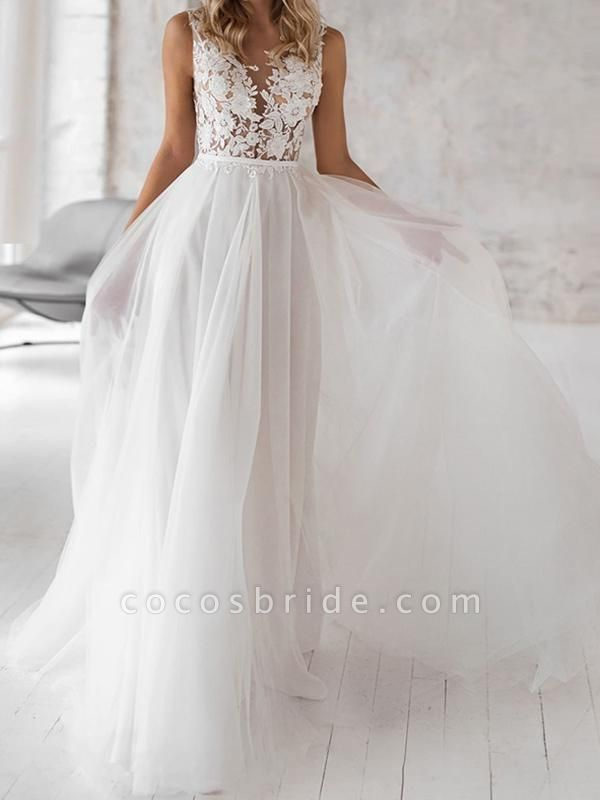 Covered Button Lace Appliques Wedding Dresses